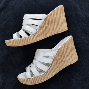 ATHENA ALEXANDER Platform Wedge Sandals Leather